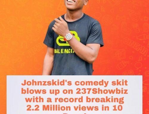Comedian Johnzskid Hits 2 Million views on 237showbiz