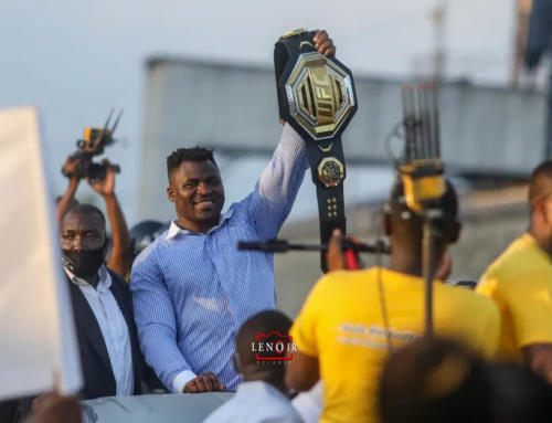 Francis Ngannou returns home with UFC World Heavyweight Championship Belt